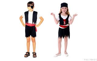 Fantasias de Piratas Infantis para Crianças