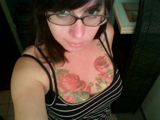 Tattooed Roses on my chest
