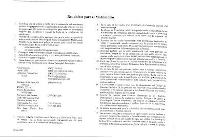 Parroquia santa rosa de lima puerto rico requisitos - Requisitos para casarse ...