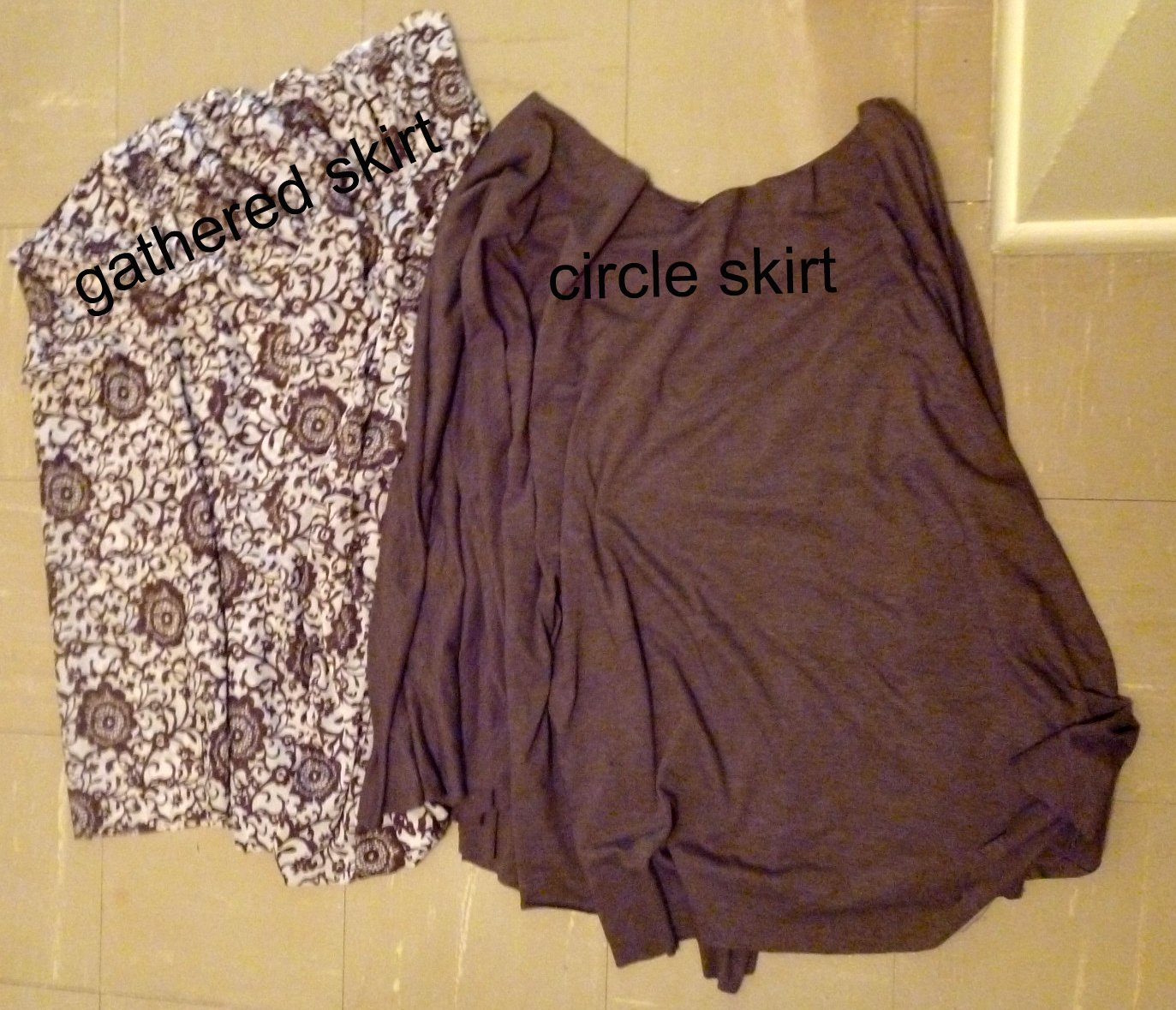 Reversible Skirt With Knit Waistband Tutorial - Heather Handmade
