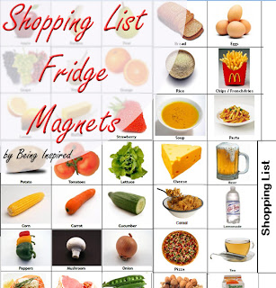 Shopping List Fridge Magnets