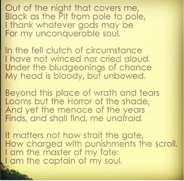 invictus by william ernest henley courage Invictus print designed by artist  invictus poem by william ernest henley in a beautiful hand-lettered print by  perfect gift for those needing courage in the.