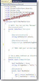 WCF Service - IService.cs Auto Generated Code