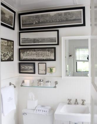 Decorare con le cornici incorniciamoci architettura e - Quadri in bagno ...