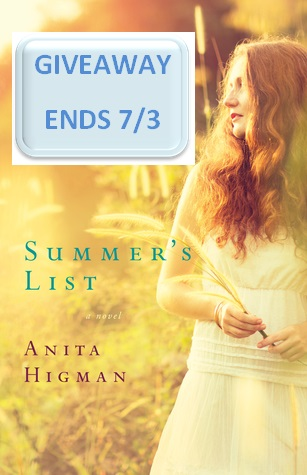 "Enter ""Summer's List"" giveaway that ENDS 7/3/15."