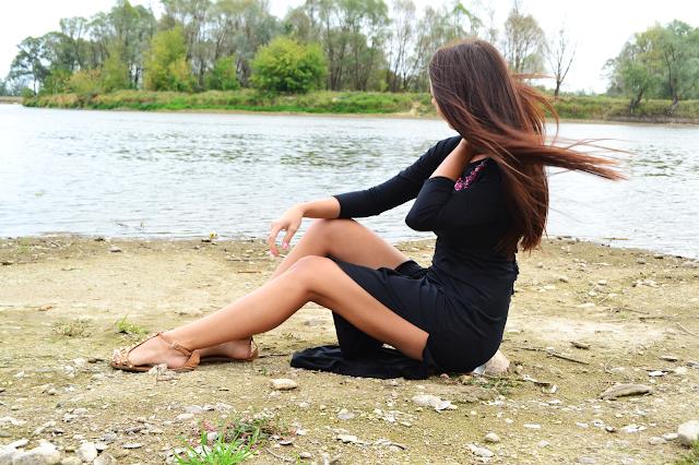 Black long dress :)
