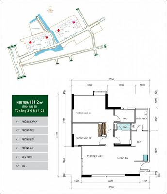 Căn hộ 101,2 m2