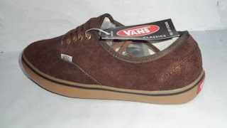 Vans Authentic coklat  gem,Vans casual,vans murah,vans suide