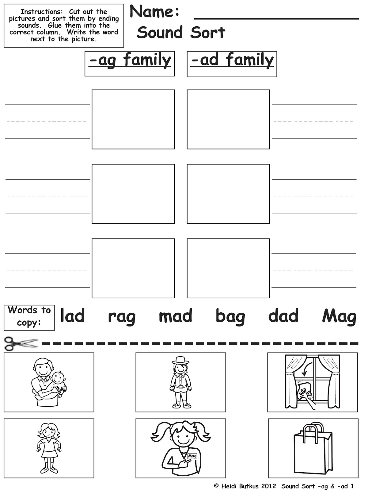 worksheet Ap Word Family Worksheets a new heidisongs cvc book is here heidi songs this one of the sound sort worksheets for short vowel unit