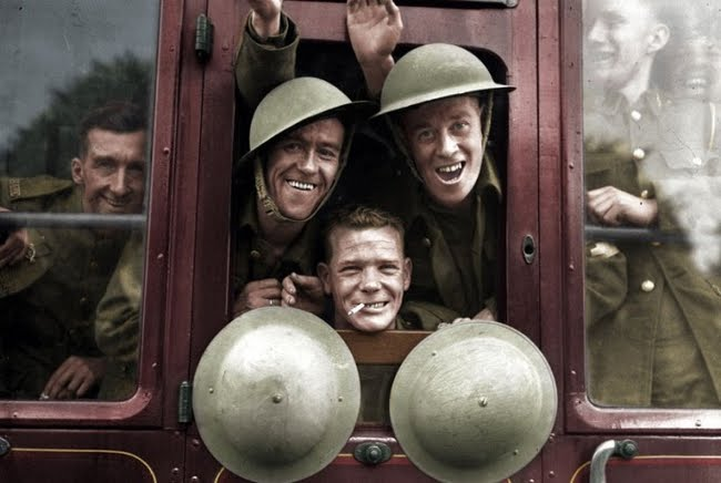British Soldiers Returning from the front in 1939.