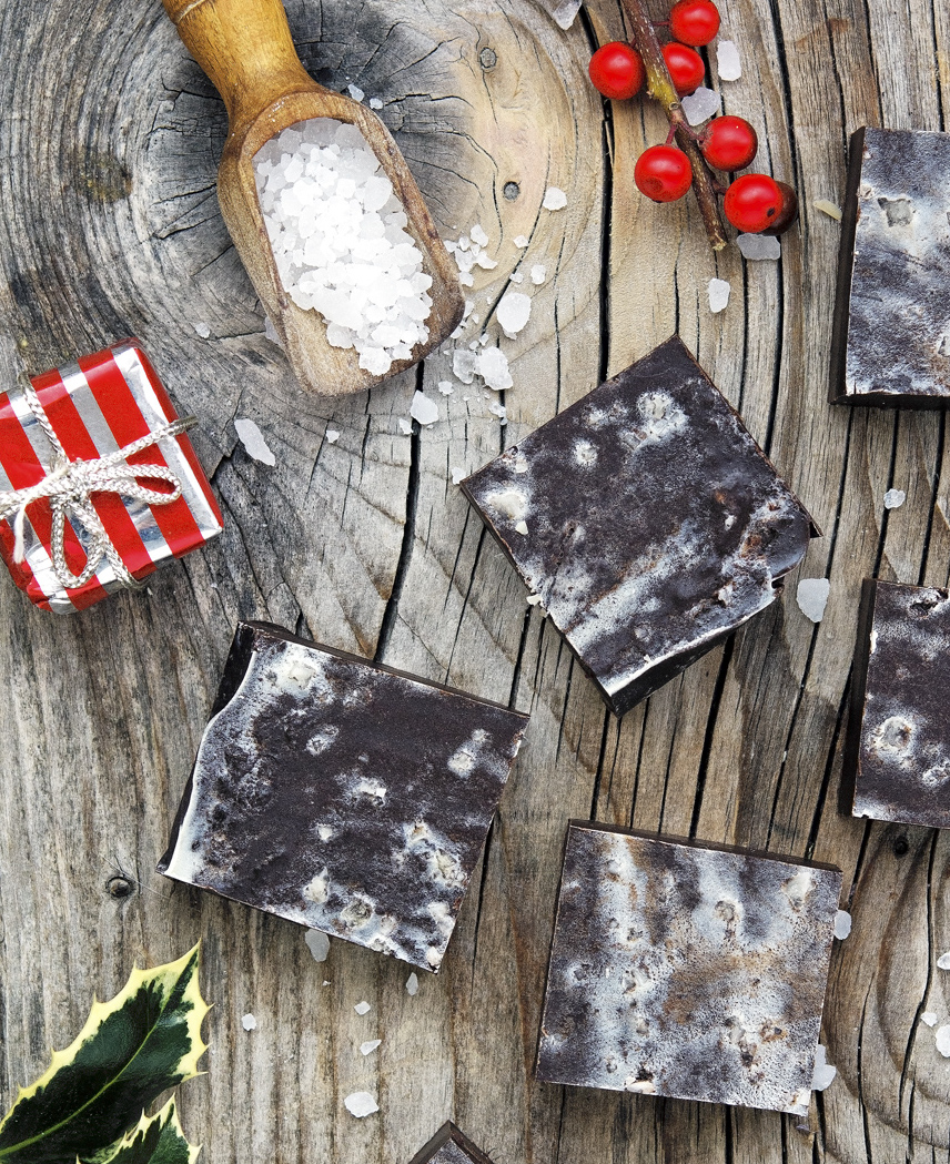 3-Ingredient Chocolate Fudge with Sea Salt