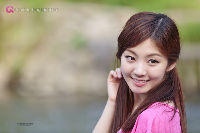 5 Chae Eun in Purple  - very cute asian girl - girlcute4u.blogspot.com
