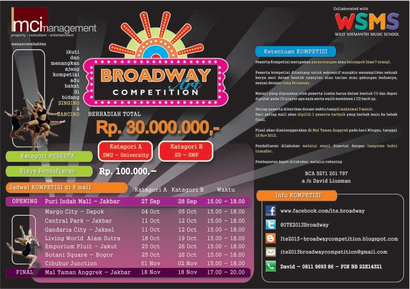 broadway competition