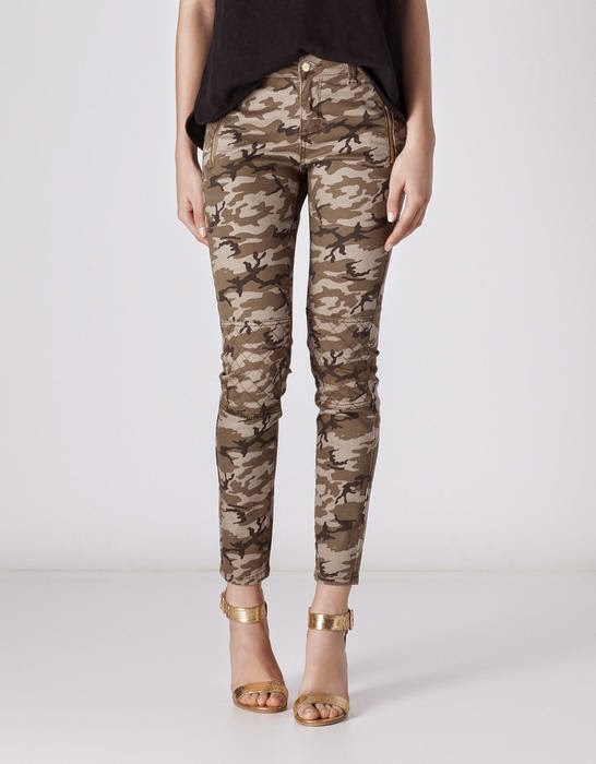 pantalones pitillo camuflaje