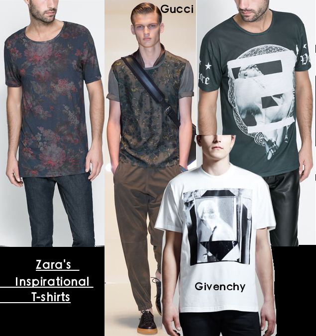 zara mens inspired t-shirts