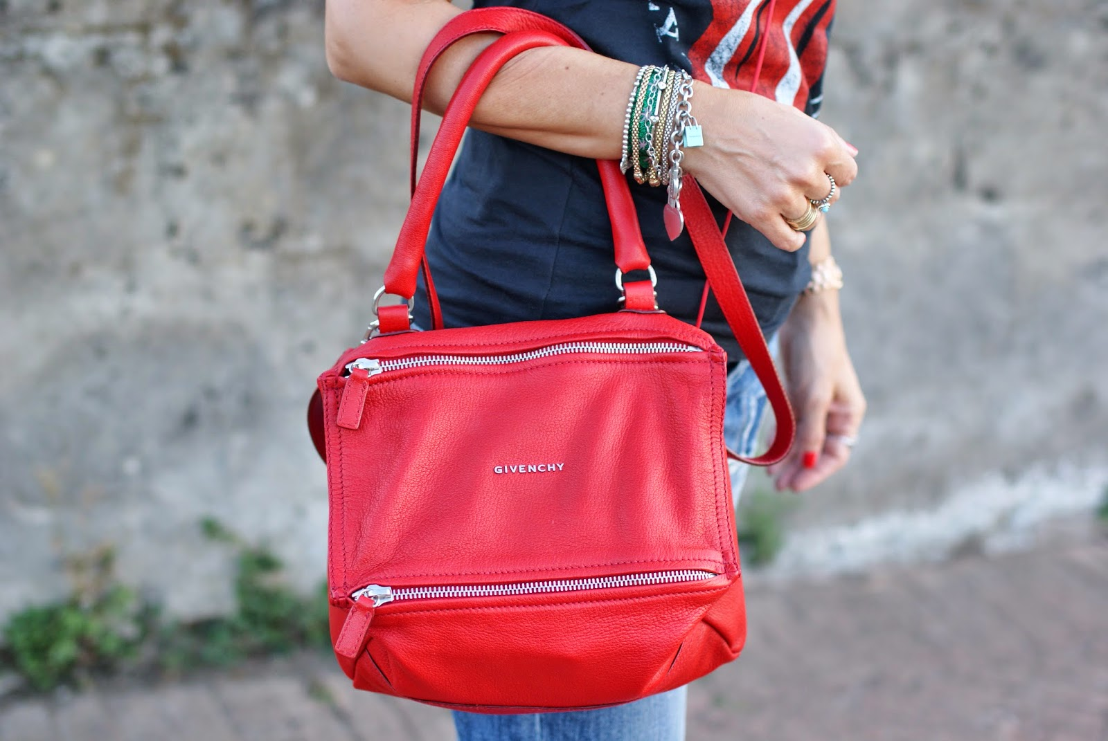 Givenchy red Pandora bag in small size, Fashion and Cookies, fashion blogger