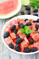 Watermelon, Blackberry,and Mint Salad