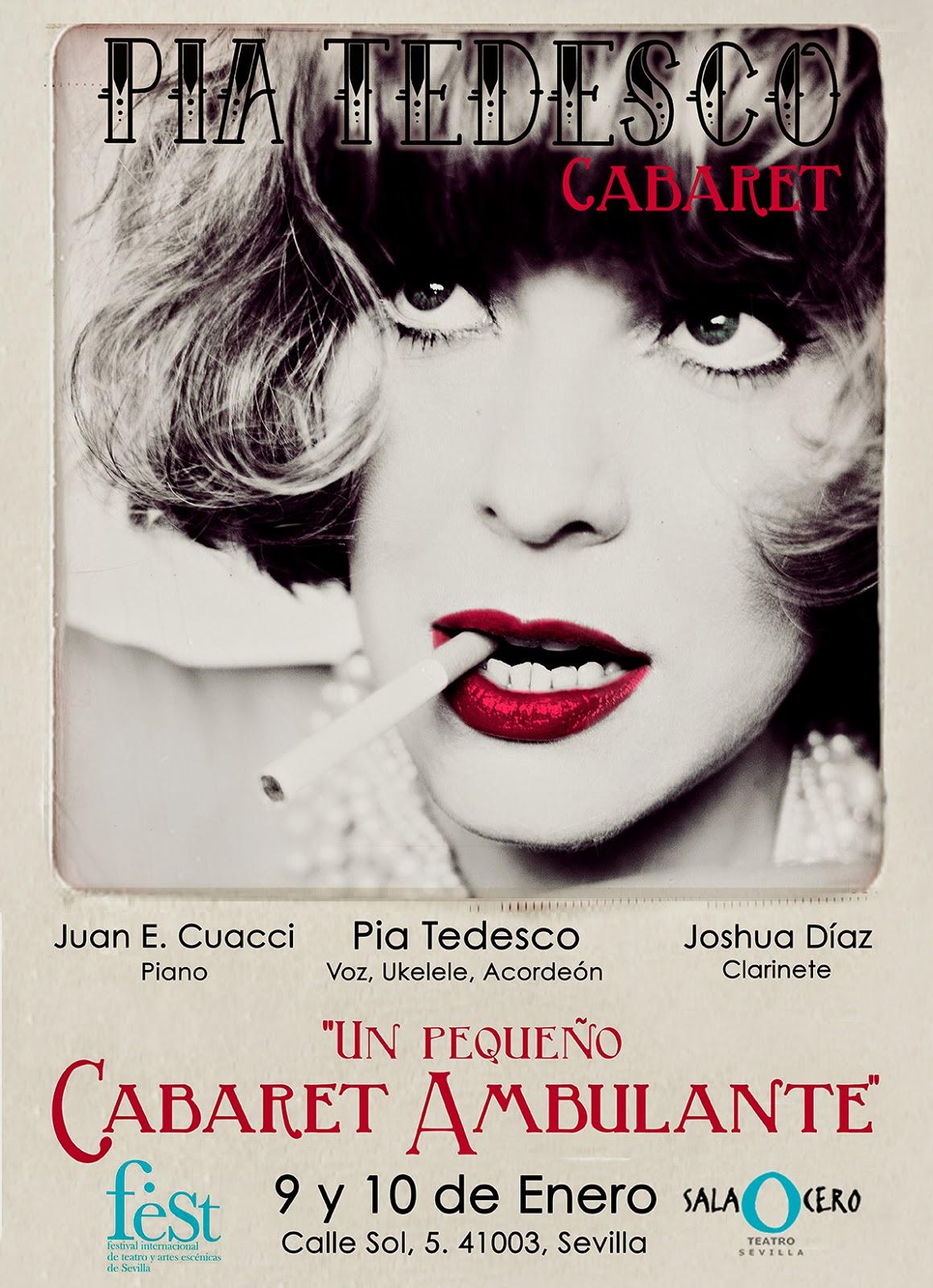 PIA TEDESCO CARTEL Fest Sevilla Sala Cero Cabaret Cuacci joshua Diaz