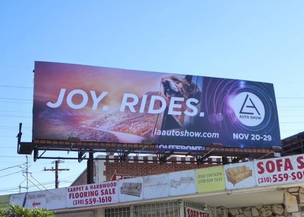 LA Auto Show Joy Rides dog billboard