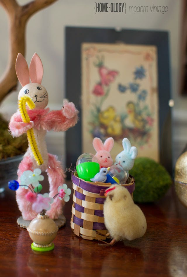 vintage collection of easter miniatures