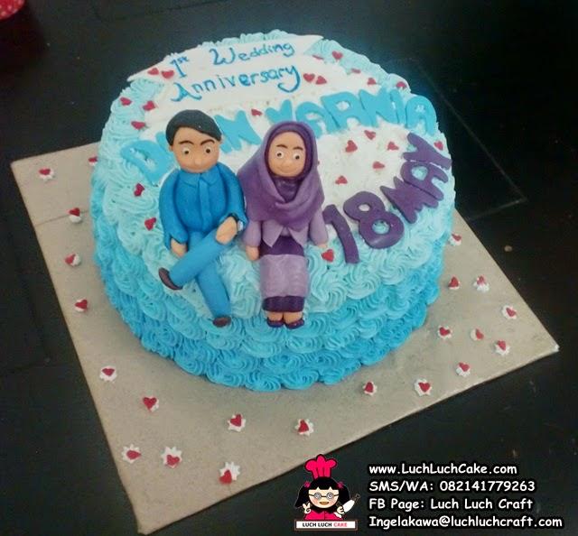 Kue Tart Anniversary Romantis Daerah Surabaya - Sidoarjo