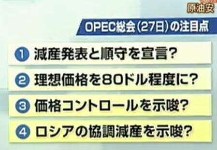OPEC総会 ポイント