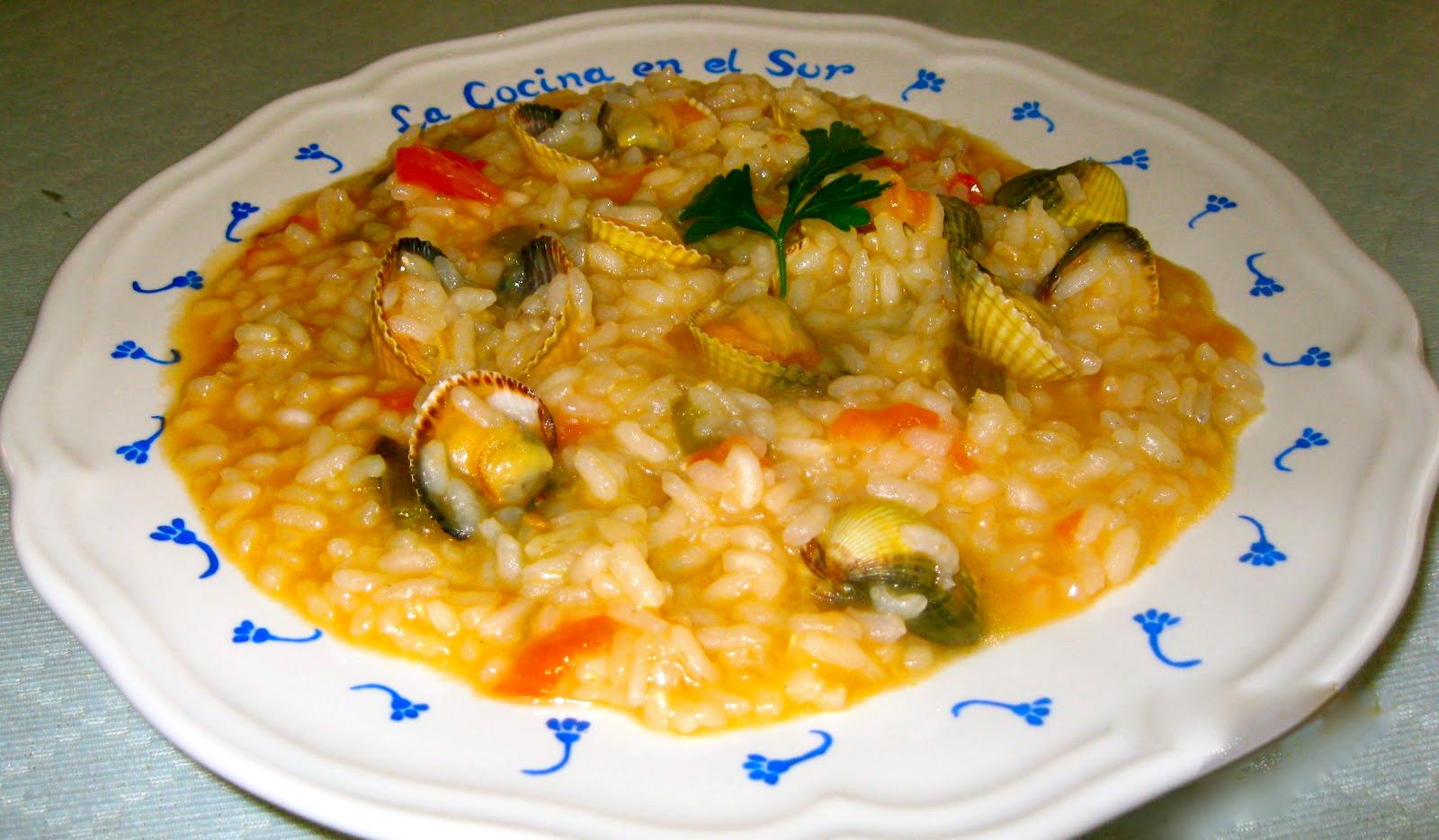 La cocina en el sur arroz en veranillo con berberechos - Como cocinar berberechos ...