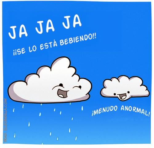 viñeta de humor - Deliciosos días de lluvia