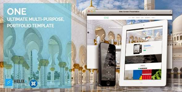 One | Ultimate Multi-Purpose, Portfolio Joomla Template