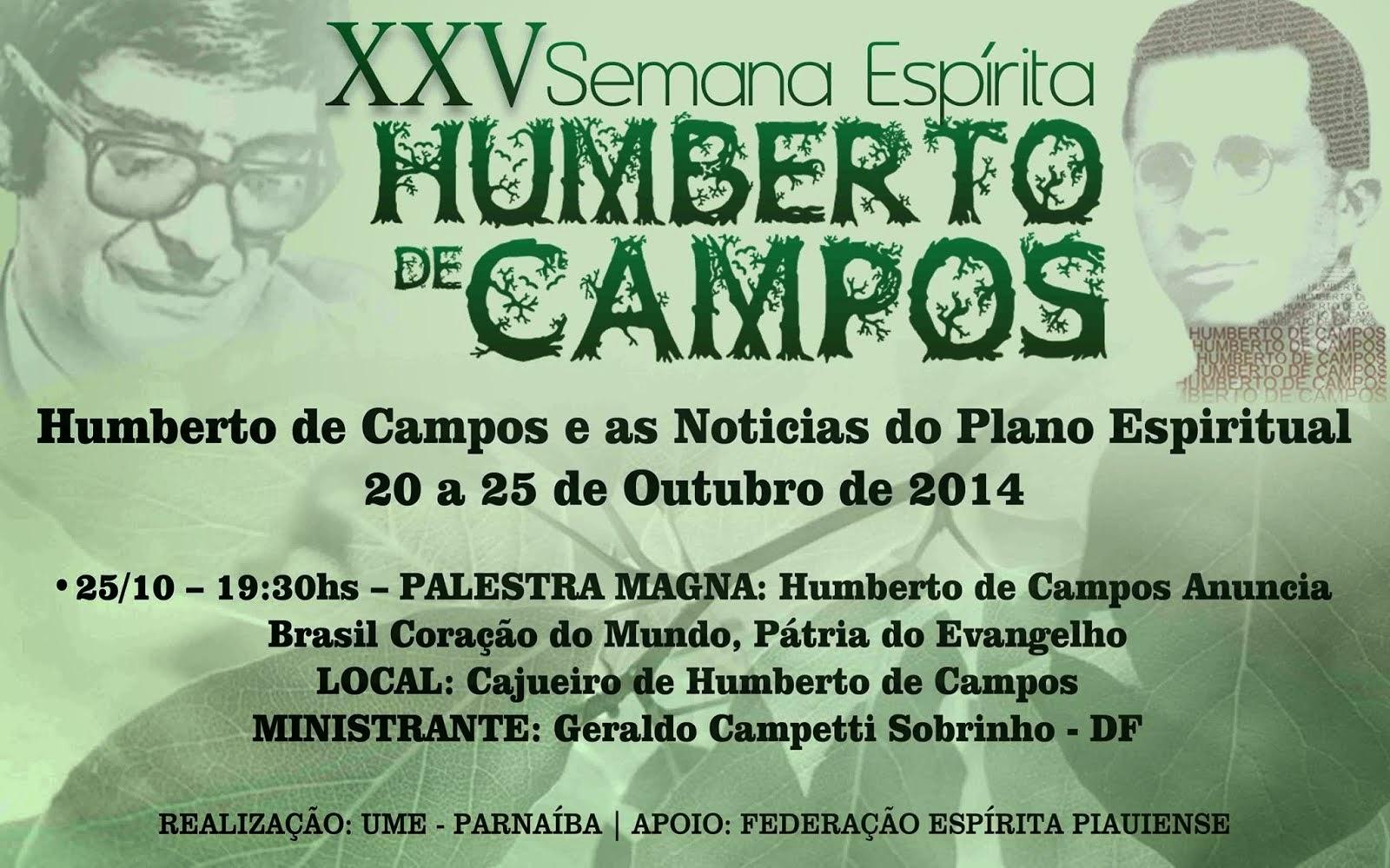 XXV Semana Espírita Humberto de Campos