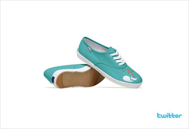 Social Media Shoes - Twitter