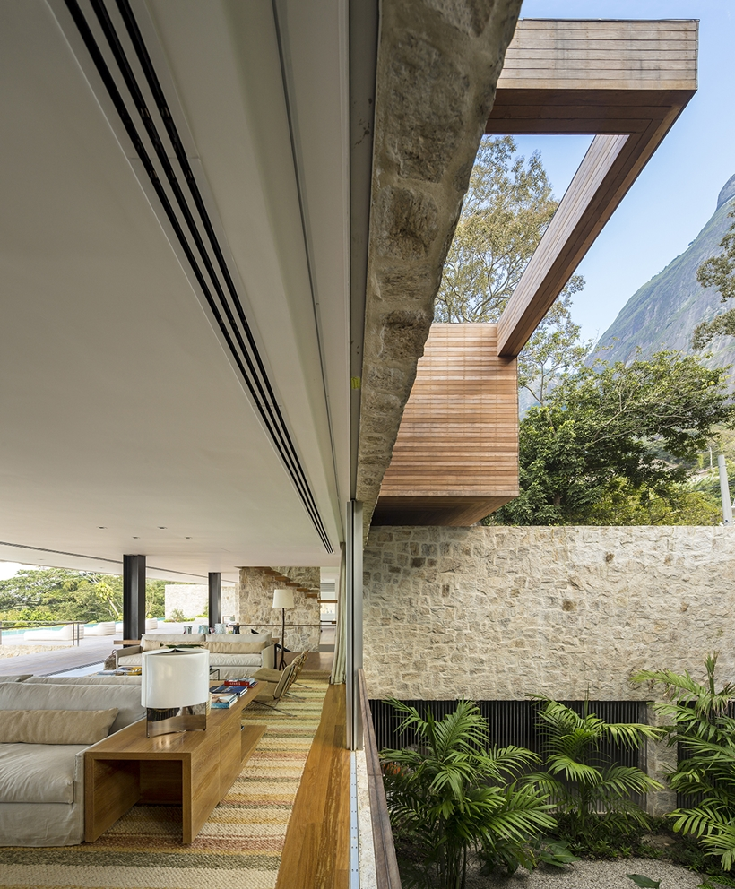 Interiors and open glass wall
