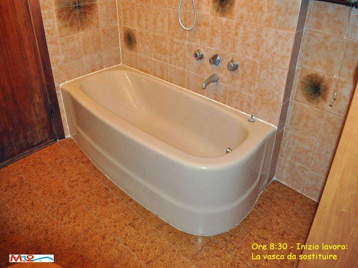 Vasca Da Bagno Angolare Ghisa : Trasformazione vasca in doccia ° esempio m trasformazione