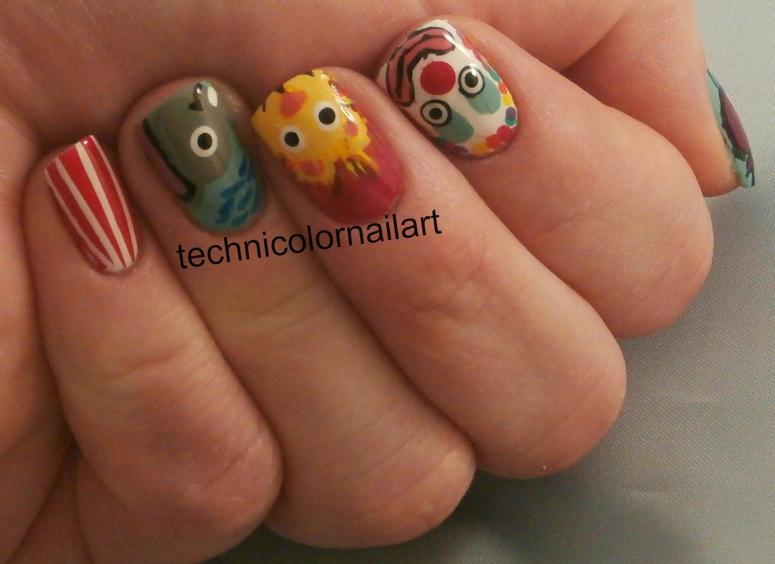 Technicolor Nail Art: Challenge Your Nail Art: Circus