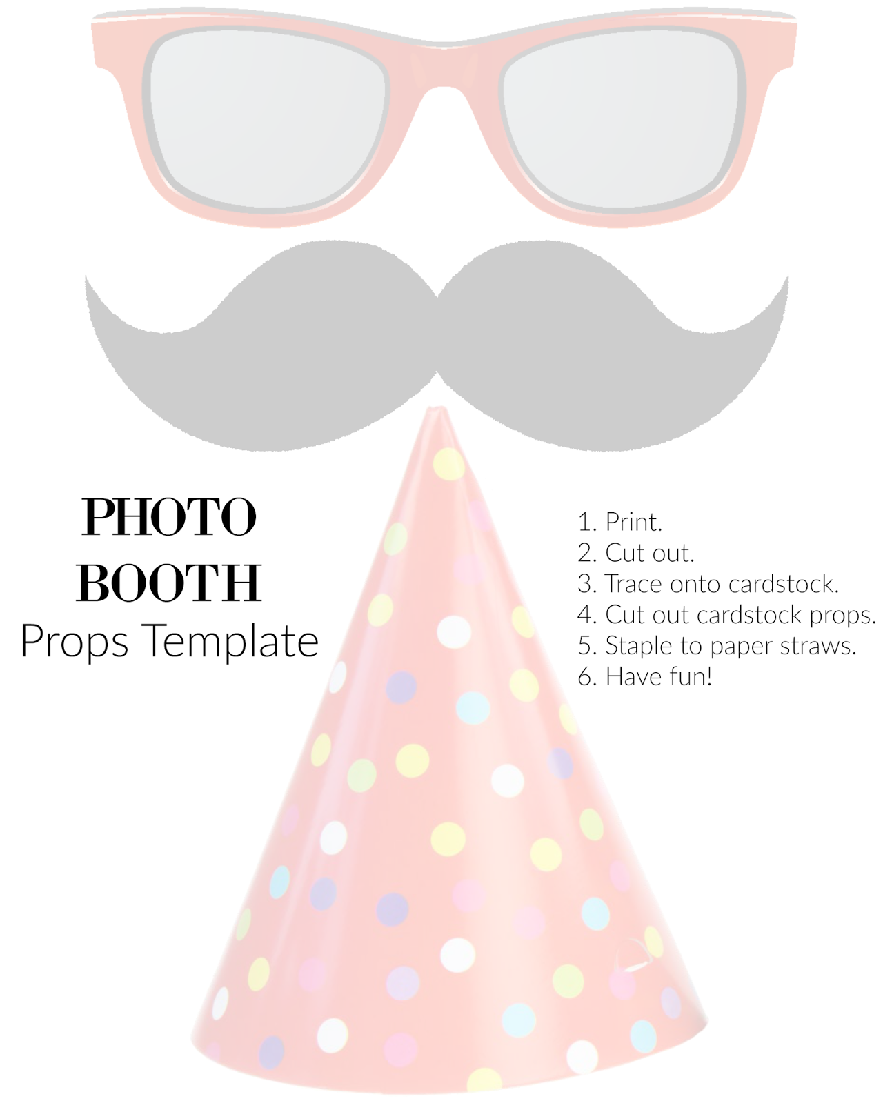 The life of jennifer dawn diy photo booth props printable template pronofoot35fo Images