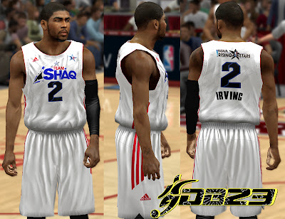 NBA 2K13 Team Shaq Home Uniform Mod