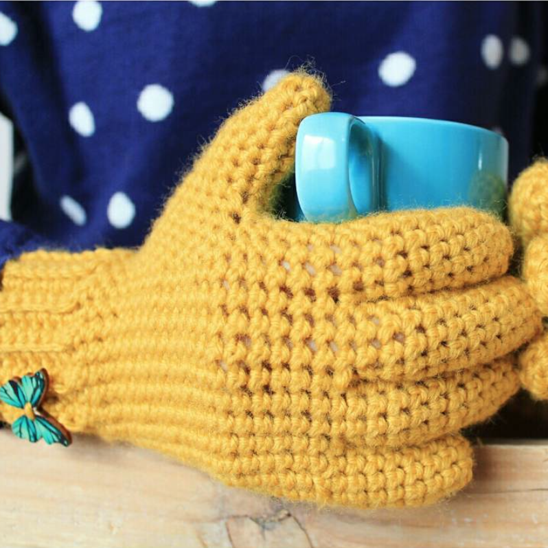 GUANTES CON DEDOS A CROCHET - Ahuyama Crochet