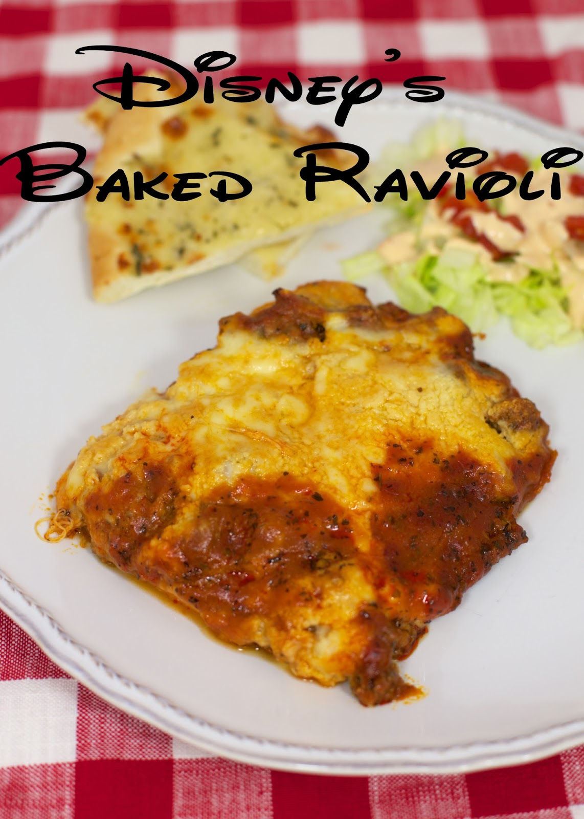 Disney's Baked Ravioli - Frozen ravioli smothered with a homemade meat ...