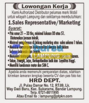 Lowongan Kerja D3 & S1 Lampung