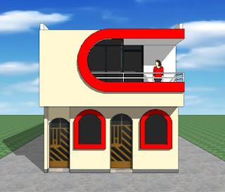 Fachadas y casas casas con frentes de seis metros for Frentes de casas sencillas