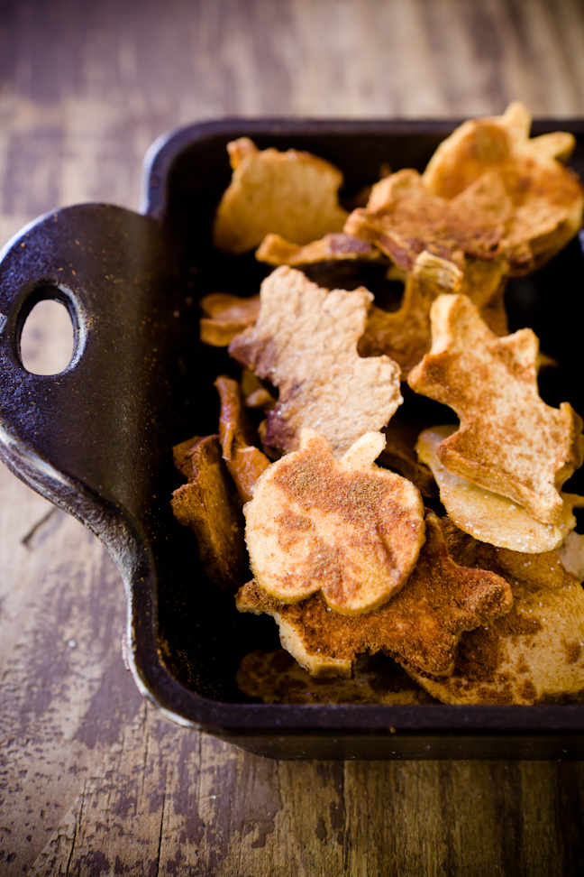 Homemade Apple Chips in Fun Fall Shapes | Cupcake Project