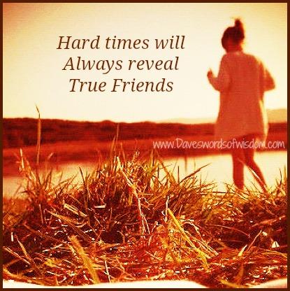 Hard Times Will Always Reveal Hard Times Reveal True Friends