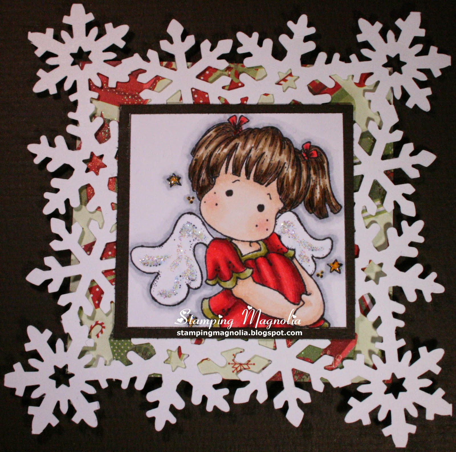Coloring Magnolia Stamp Little Merry Christmas Collection - Dancing With Stars Tild