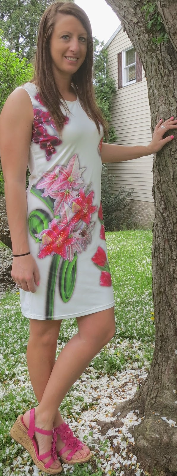 floral dress, spring, outfit, fashion