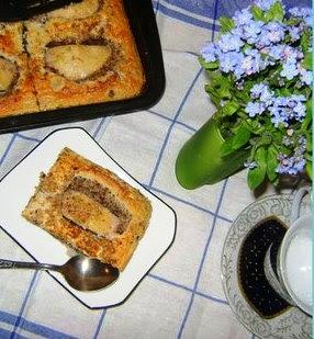 Ореховый пирог с яблоками
