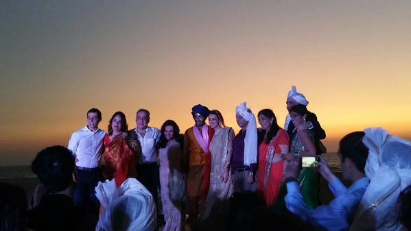 Sanaya Irani-Mohit Sehgal wedding party
