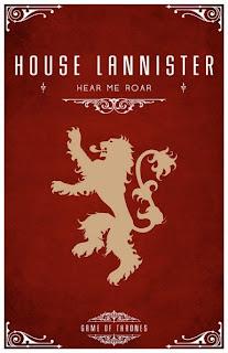 emblema casa Lannister - Juego de Tronos en los siete reinos