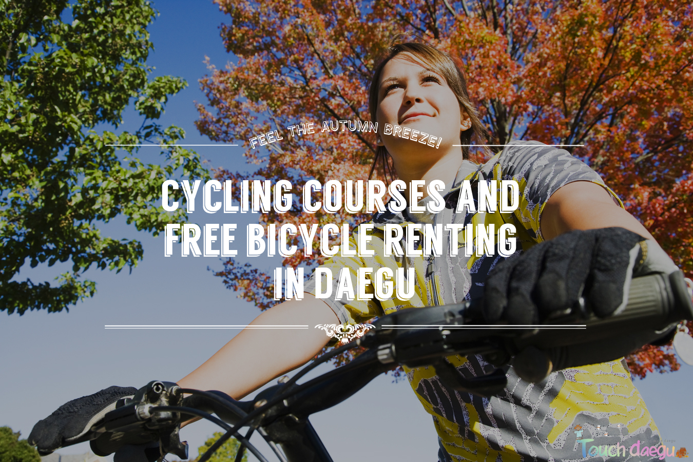 Cycling courses for fall season and free bicycle renting in Daegu