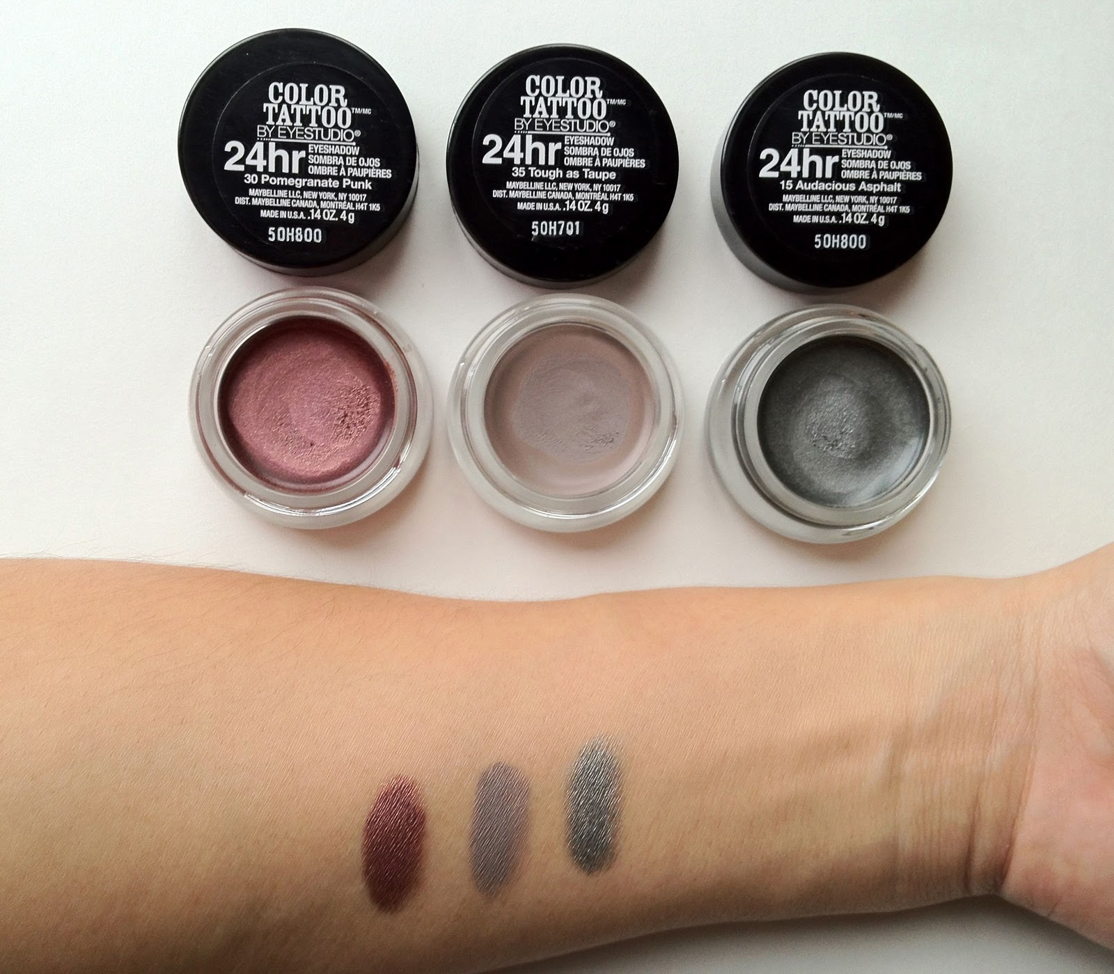 Maybelline color tattoo first impressions pixiemama for Color tattoo maybelline