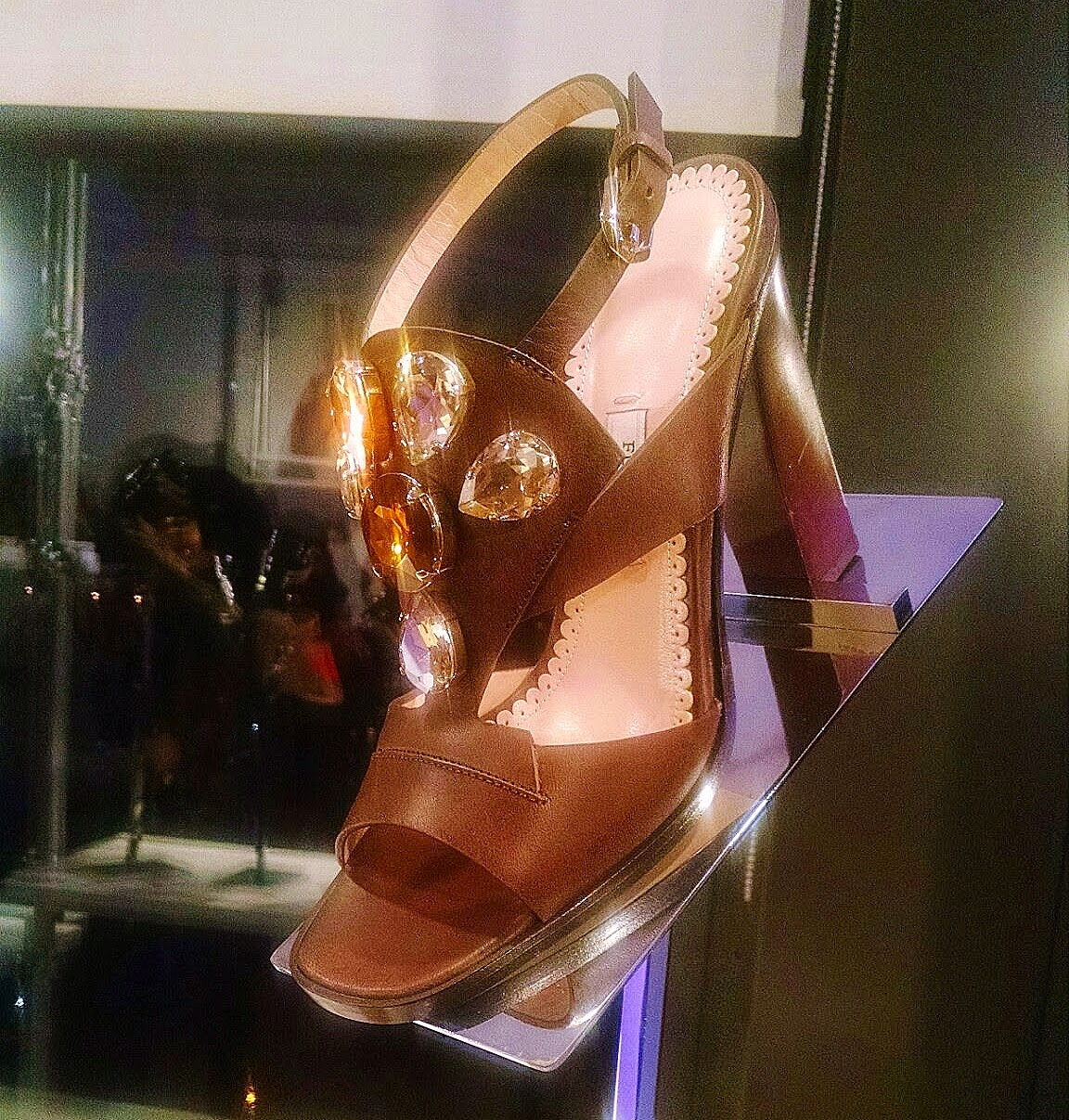 Furla jeweled sandal